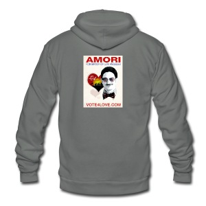 Amori for Mayor of Los Angeles eco friendly shirt - Unisex Fleece Zip Hoodie by American Apparel