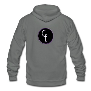 CE Logo - Unisex Fleece Zip Hoodie by American Apparel