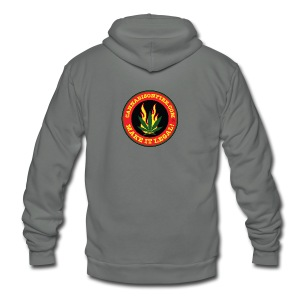 Make Cannabis Legal Cannabis Tshirts 420 wear - Unisex Fleece Zip Hoodie by American Apparel