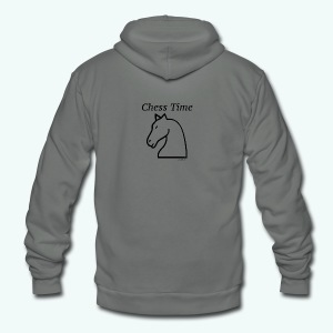 chesstim1_bw2 - Unisex Fleece Zip Hoodie by American Apparel