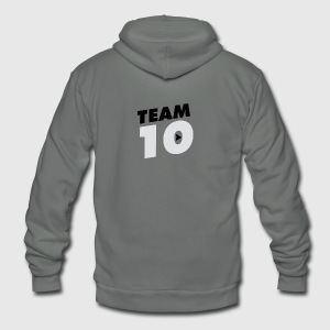 Team10 logo - Unisex Fleece Zip Hoodie by American Apparel