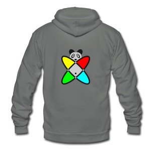 SCIENCE PANDA - Unisex Fleece Zip Hoodie by American Apparel