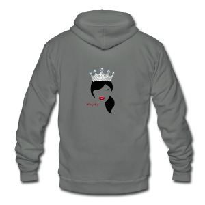 Hashtag Royalty - Unisex Fleece Zip Hoodie by American Apparel
