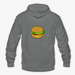 Comic Burger - Unisex Fleece Zip Hoodie