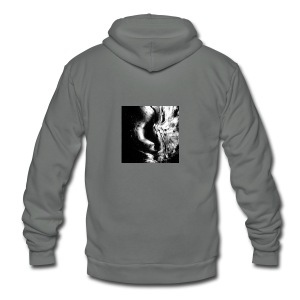 Black_and_White_Abstract_art - Unisex Fleece Zip Hoodie