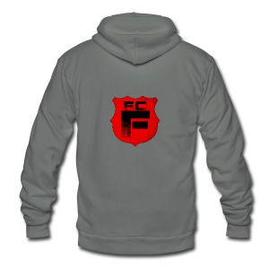 Fc Flamur - Unisex Fleece Zip Hoodie by American Apparel