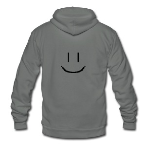 Smiley - Unisex Fleece Zip Hoodie by American Apparel