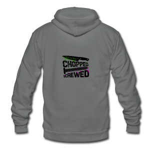 Chopped and Screwed - Unisex Fleece Zip Hoodie by American Apparel