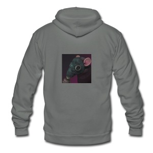 the ratflippus - Unisex Fleece Zip Hoodie by American Apparel