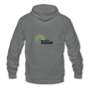 Political Radar Logo - Black - Unisex Fleece Zip Hoodie