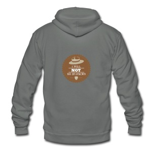 Not be Silenced - Unisex Fleece Zip Hoodie by American Apparel