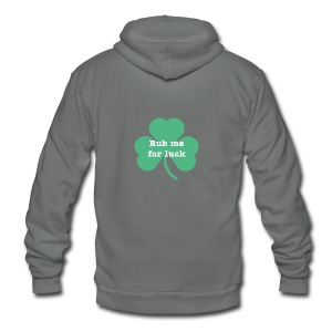 Rub me for luck - Unisex Fleece Zip Hoodie