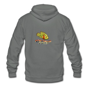 Pyro Trimac Cichlid Apparel - Unisex Fleece Zip Hoodie by American Apparel