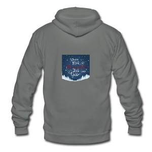 Winter Theme - Unisex Fleece Zip Hoodie