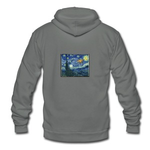 Starry Night Drone - Unisex Fleece Zip Hoodie