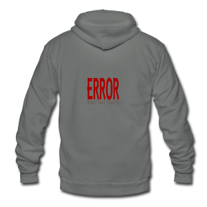 Oops There Is Something Missing! - Unisex Fleece Zip Hoodie
