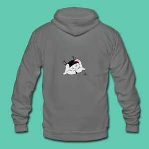 Sleepy Jackalope Annette - Unisex Fleece Zip Hoodie