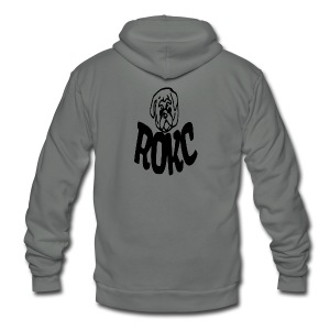ROKC ALTERNATE LOGO - Unisex Fleece Zip Hoodie by American Apparel