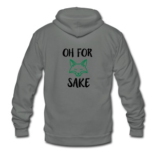 Oh For Fox Sake Design - Unisex Fleece Zip Hoodie by American Apparel