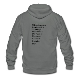 Great Artists - Unisex Fleece Zip Hoodie