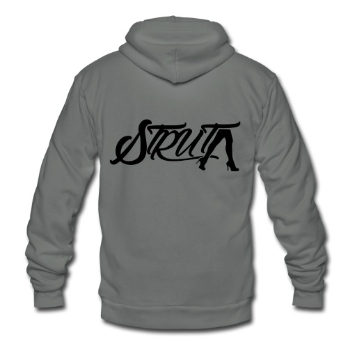 STRUT Logo (with Black Text) - Unisex Fleece Zip Hoodie