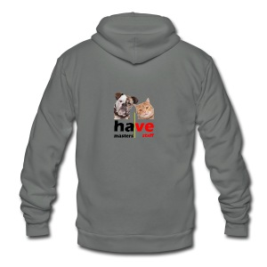 Dog & Cat - Unisex Fleece Zip Hoodie