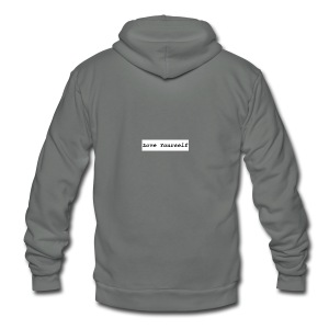 Love Yourself - Unisex Fleece Zip Hoodie