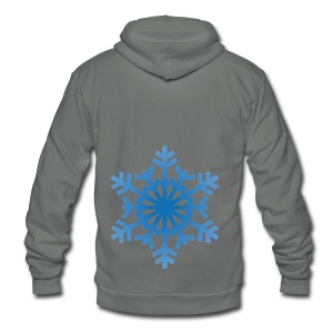 http-images-clipartpanda-com-snowflake-clipart-tra - Unisex Fleece Zip Hoodie by American Apparel