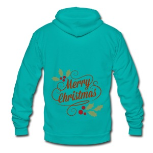 Merry Christmas - Unisex Fleece Zip Hoodie
