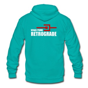 Vegas Prime Retrograde - Title and Hack Symbol - Unisex Fleece Zip Hoodie by American Apparel