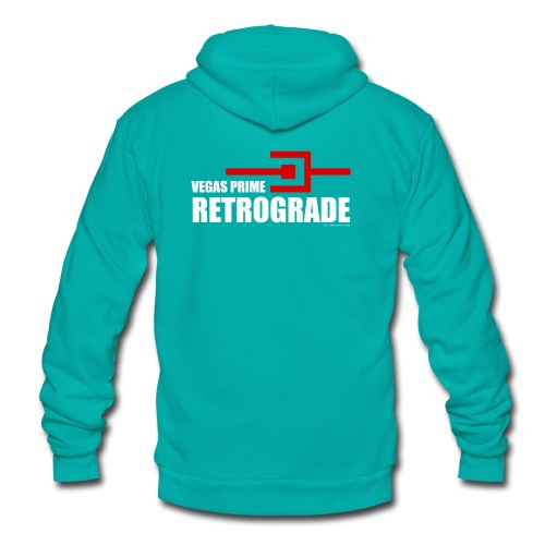 Vegas Prime Retrograde - Title and Hack Symbol - Unisex Fleece Zip Hoodie