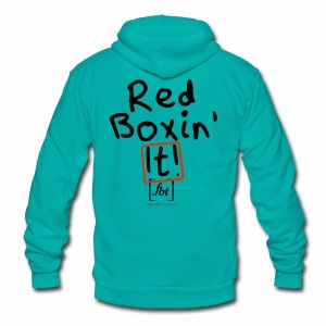 Red Boxin' It! [fbt] - Unisex Fleece Zip Hoodie by American Apparel