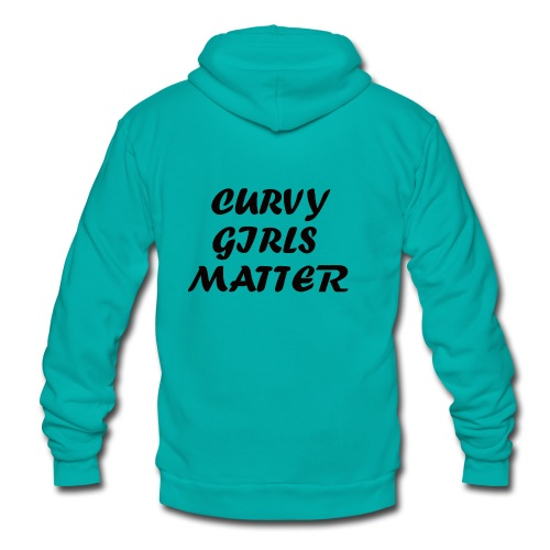 CURVY GIRLS MATTER - Unisex Fleece Zip Hoodie