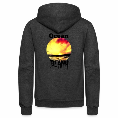 Ocean Blank sunset - Unisex Fleece Zip Hoodie