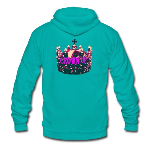 Crown Up T Shirt Female 2 - Unisex Fleece Zip Hoodie