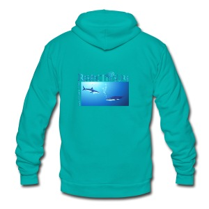 Respect The Shark - Unisex Fleece Zip Hoodie