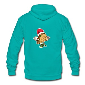 Taco Santa Hat Shirt - Unisex Fleece Zip Hoodie