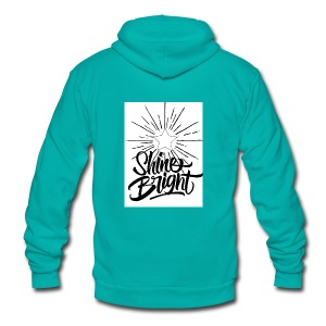 Shine bright - Unisex Fleece Zip Hoodie