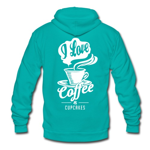 I love Coffee and Cupcakes - Unisex Fleece Zip Hoodie
