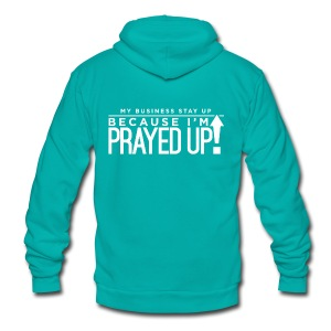 Prayed Up! - Unisex Fleece Zip Hoodie by American Apparel