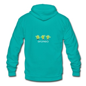 android logo T shirt - Unisex Fleece Zip Hoodie