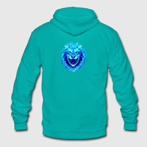 Lion Clothes - Unisex Fleece Zip Hoodie by American Apparel