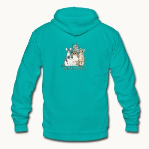 CATS - SENTIENT BEINGS - Carolyn Sandstrom - Unisex Fleece Zip Hoodie