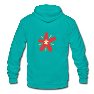 SHINE - Unisex Fleece Zip Hoodie by American Apparel