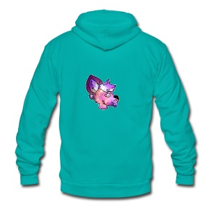 Space Doge - Unisex Fleece Zip Hoodie by American Apparel