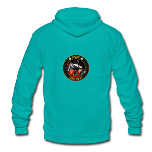 URC Mission Patch - Unisex Fleece Zip Hoodie by American Apparel