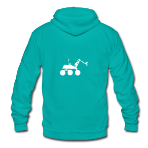 USST Rover White - Unisex Fleece Zip Hoodie by American Apparel