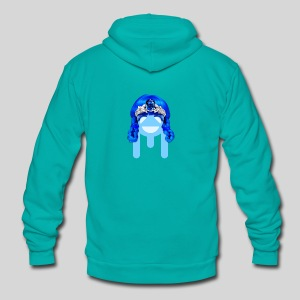 ALIENS WITH WIGS - #TeamMu - Unisex Fleece Zip Hoodie