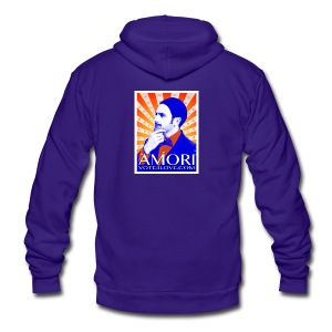 Amori_poster_1d - Unisex Fleece Zip Hoodie by American Apparel