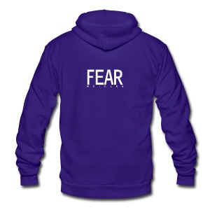 FEAR_NOTHING - Unisex Fleece Zip Hoodie by American Apparel
